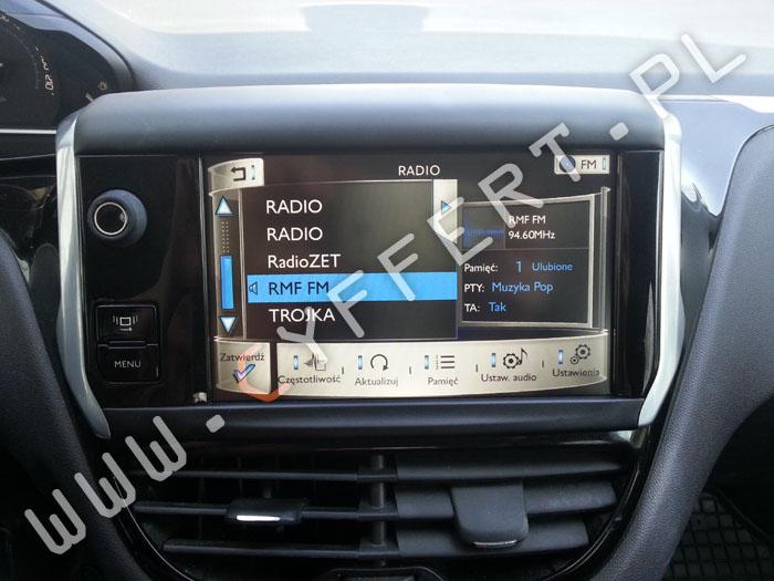 naprawa radia nawigacji SMEG SMEG+ SMEG IV2 Peugeot Citroen – wyświetla się tylko logo, nie uruchamia się, zawiesza się, resetuje się, gubi ustawienia, bluetooth niewłaściwie działa.