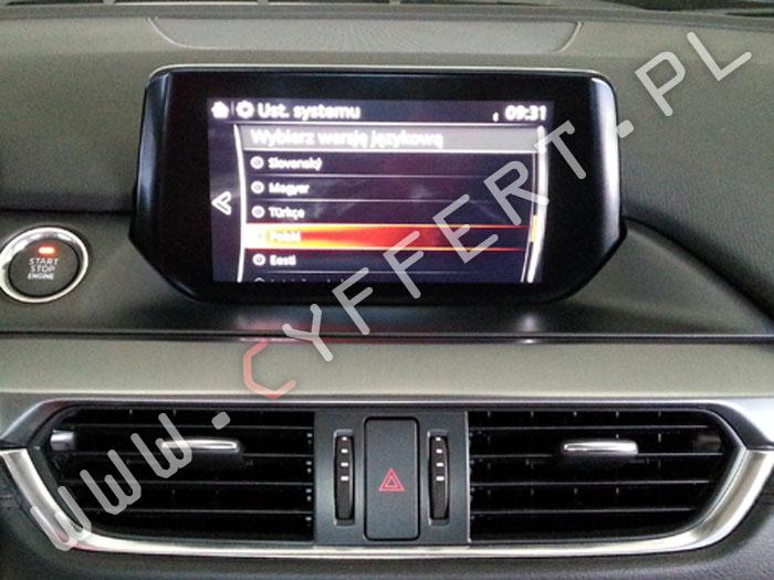 MZD Connect MAZDA – polskie menu, mapa, aktualizacja oprogramowania, Naprawa: nie włącza się, zwiesza się, czarny ekran, resetuje się, wyświetla się tylko logo Mazdy
