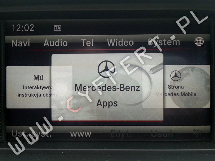 COMAND NTG4,5 ONLINE Mercedes – konwersja z USA na Europę, polskie menu, polski lektor, aktualizacja oprogramowania, aktualizacja mapy
