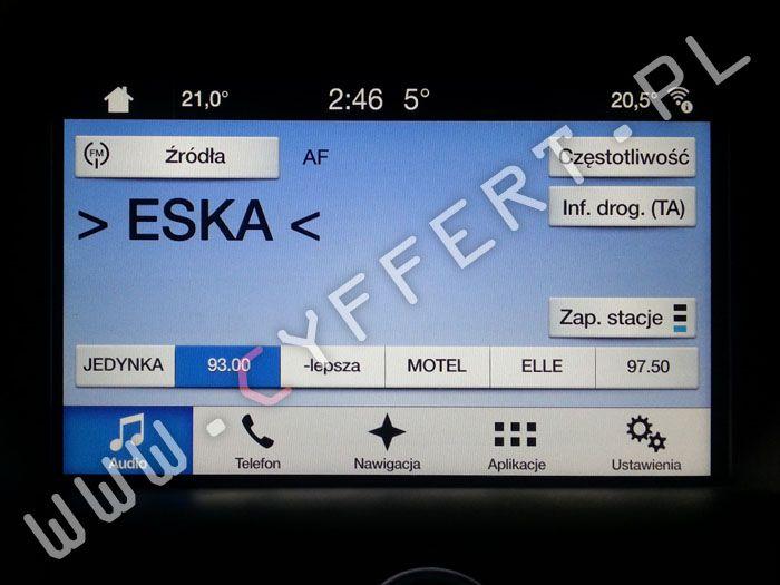 SYNC 3 FORD – polskie menu (również w liczniku), polski lektor, uruchomienie nawigacji, mapa, kodowanie z USA na Europę