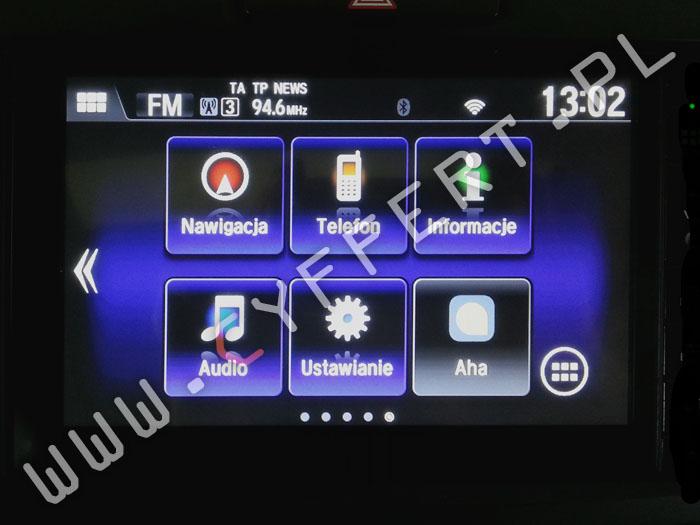 Connect+ HONDA CR-V – polskie menu, aktualizacja mapy, aktualizacja oprogramowania, ustalenie pinu, kodu / rozkodowanie, konwersja z USA na EU, naprawa: wyświetla się tylko logo, nie uruchamia się, zawiesza się, resetuje się, gubi ustawienia