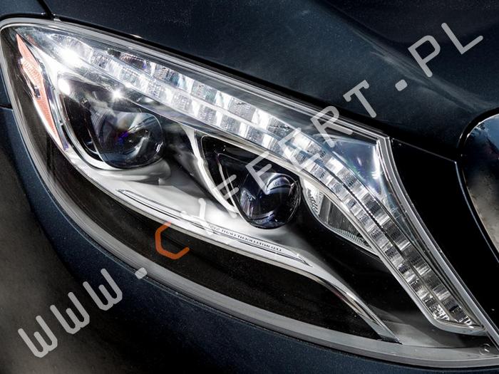 kodowanie przednich lamp z USA na Europe Mercedes S 222