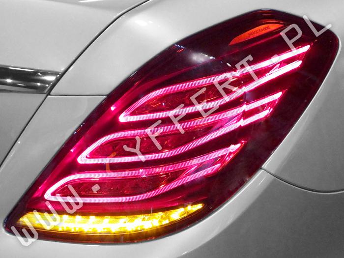 kodowanie tylnych lamp z USA na Europe Mercedes S 222