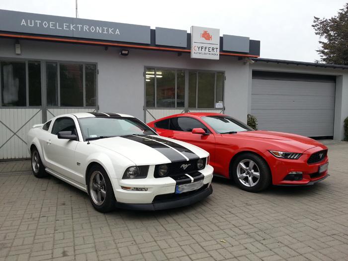 Ford Mustang – przeróbka przednich i tylnych lamp z  USA / Kanady na Europę