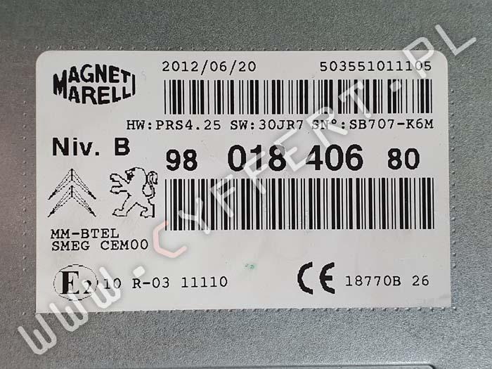 radio Peugeot Citroen 9801840680 Magneti Marelli