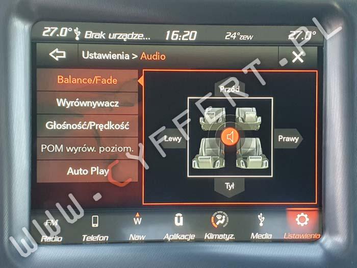 uConnect 8,4 Panasonic Dodge