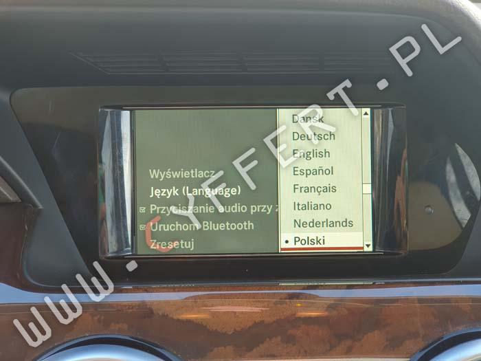 AUDIO 20 HU45 z nawigacją Becker Mercedes – konwersja z USA na Europę – polskie menu, polski lektor, zmiana częstotliwości radia i regionu, mapa – naprawa – nie uruchamia się, czarny ekran, resetuje się, zawiesza się, wyświetla się tylko logo, restartuje się