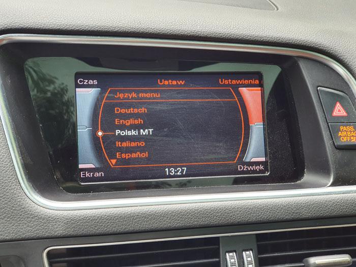 radio Concert Audi - konwersja z USA na EU - język polski (równeż w liczniku), zmiana częstotliwości radia